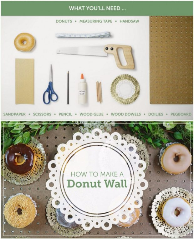 Pared de donas DIY