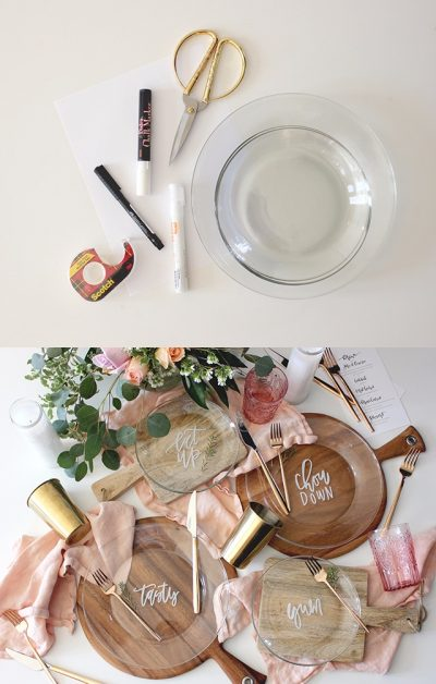 Platos decorativos DIY