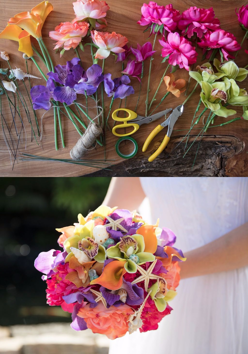 Bouquet playero DIY